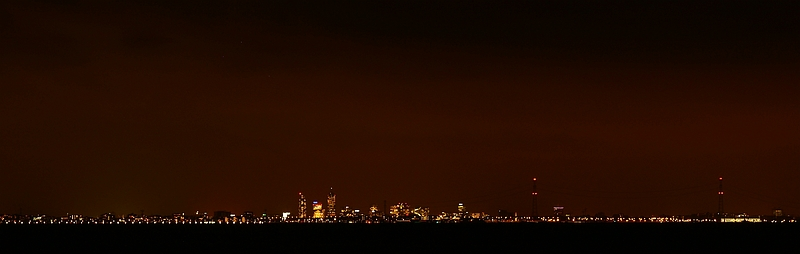 Amsterdam by Night from Almere City